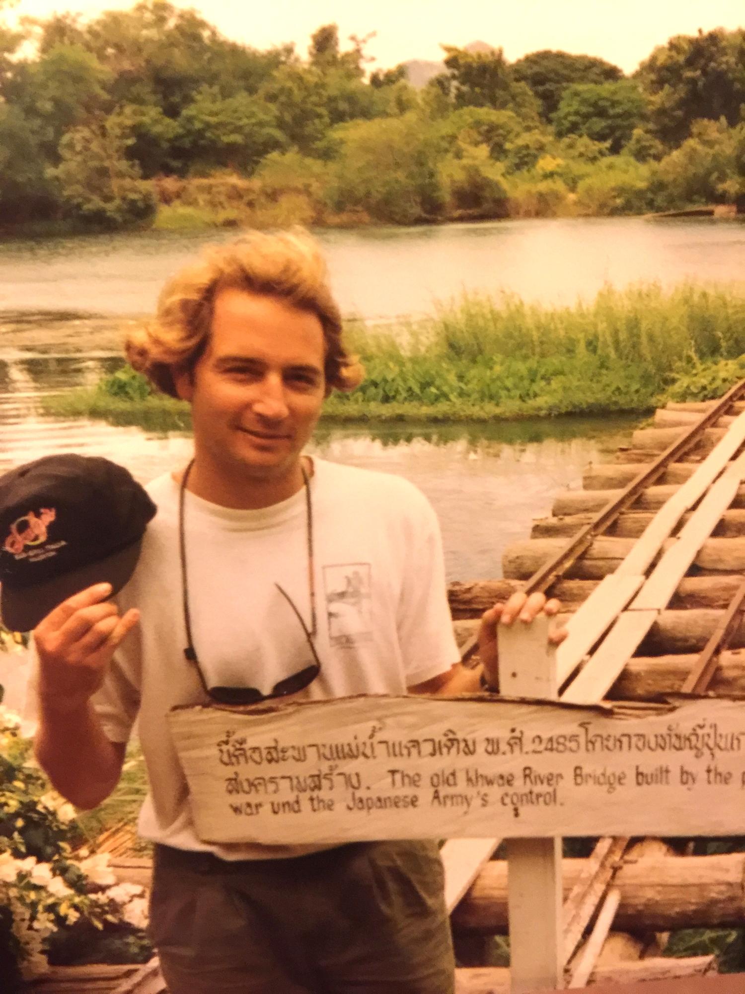 Brian at the Bridge over River Kwai.JPG