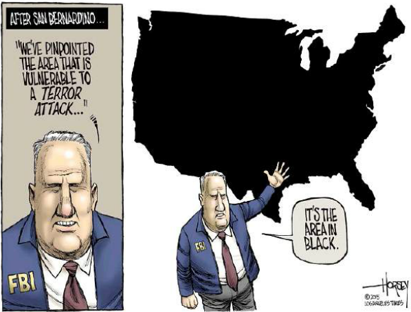 Editorial cartoon L.A. Times (under Fair Use).