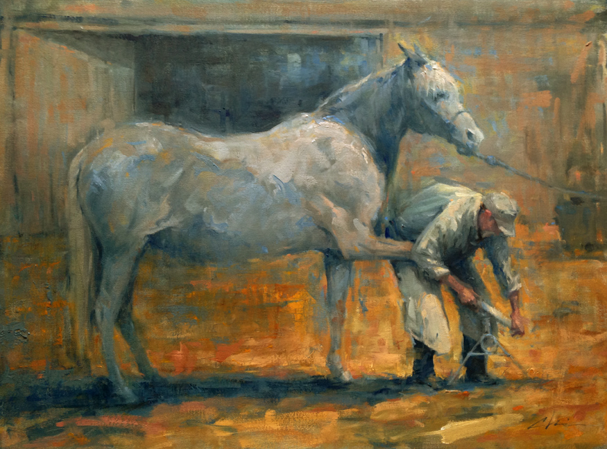 The Farrier 2, Oils  18 x24