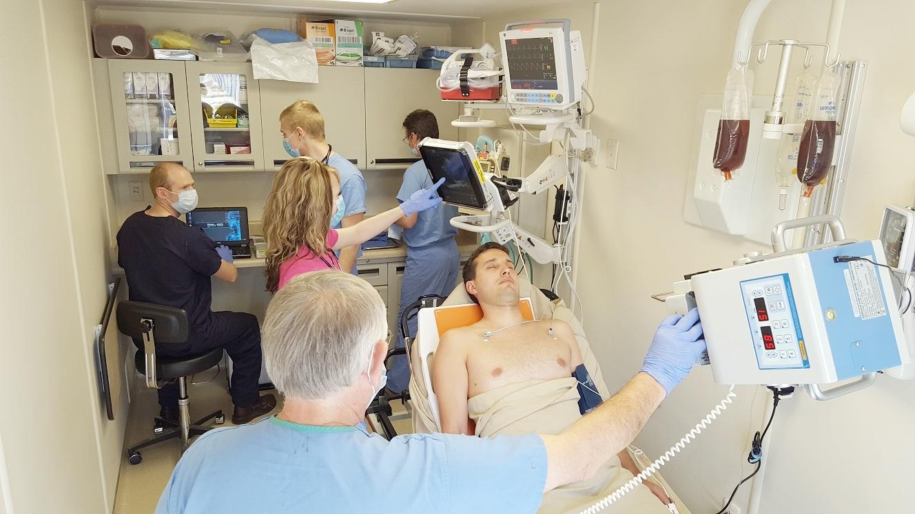 Clinic In A Can 20 foot Solar Powered Emergency/Trauma Unit with digital X-ray