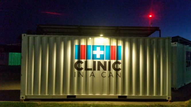 Clinic In A Can security light and beacon locator solar powered