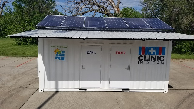 Clinic In A Can 20 foot split roof and pitch adjustable solar panels pic 3.jpg