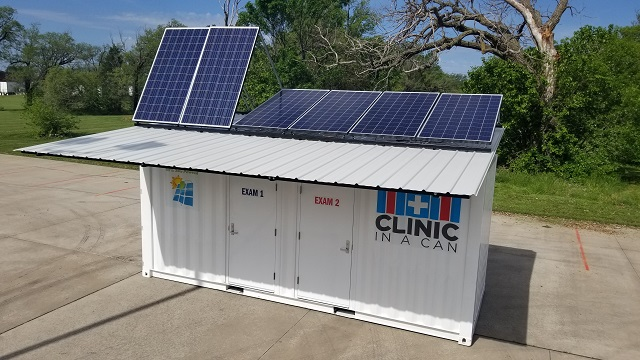 Clinic In A Can 20 foot split roof and pitch adjustable solar panels pic 2.jpg