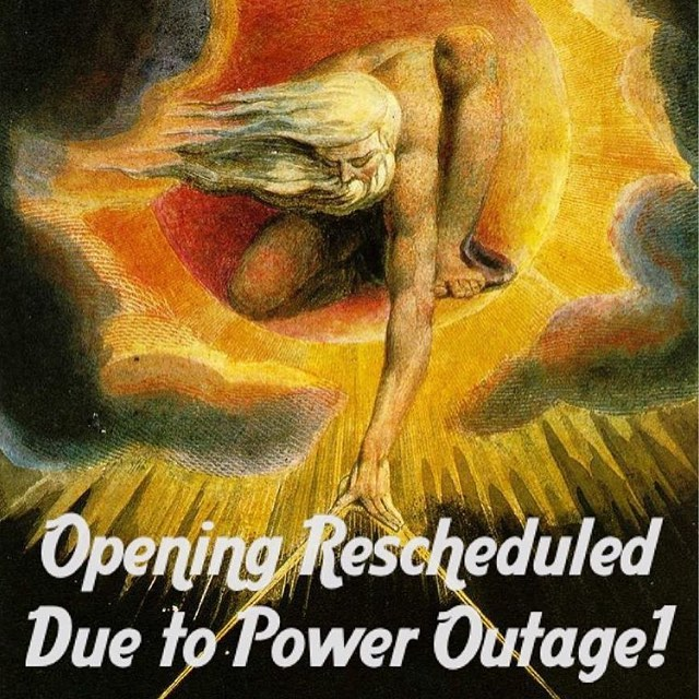 Due to SF's major power outage @williamblakegallery reception has been postposed. Stay tuned for the new date to be announced. See you soon Tygers!