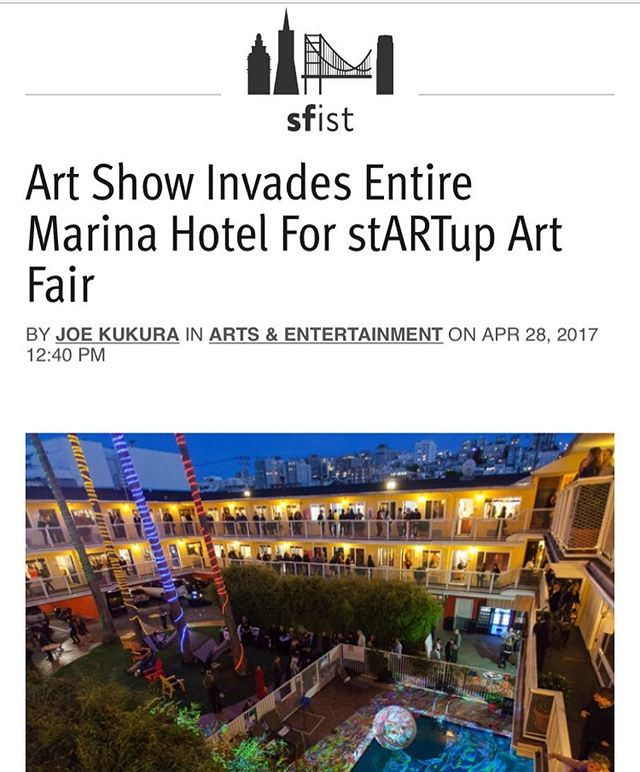 One of many great preview pieces about stARTup art fair this weekend. I'll be at the party with my party pants on tonight. Hope to see you there!