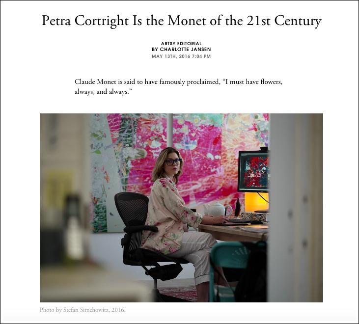 Artsy - press coverage for Petra Cortright