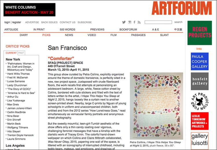 Artforum - press coverage
