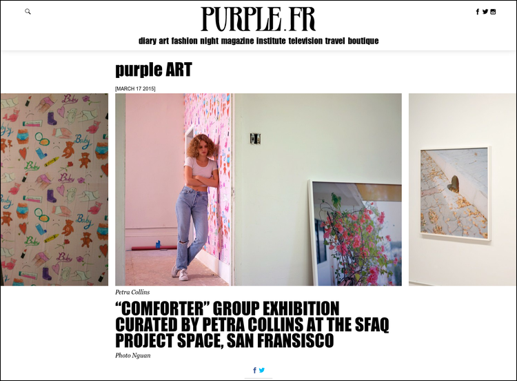 Purple Magazine - press coverage in art, fashion, lifestyle, culture media