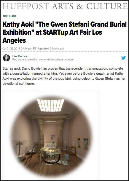 Huffington Post - article on Gwen Stafani art exhibition
