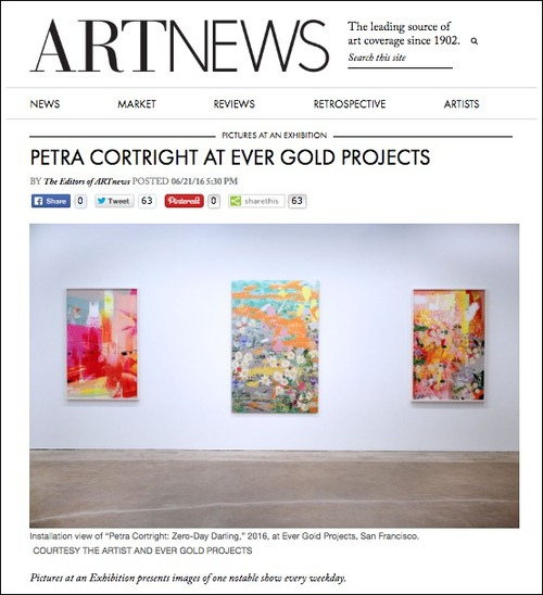 ART NEWS: news coverage for Petra Cortright art exhibition at Ever Gold Projects