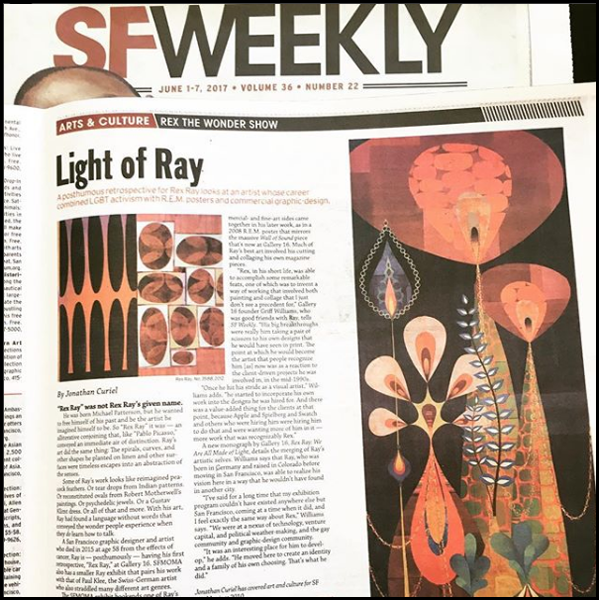 SF Weekly - article for art retrospective exhibition