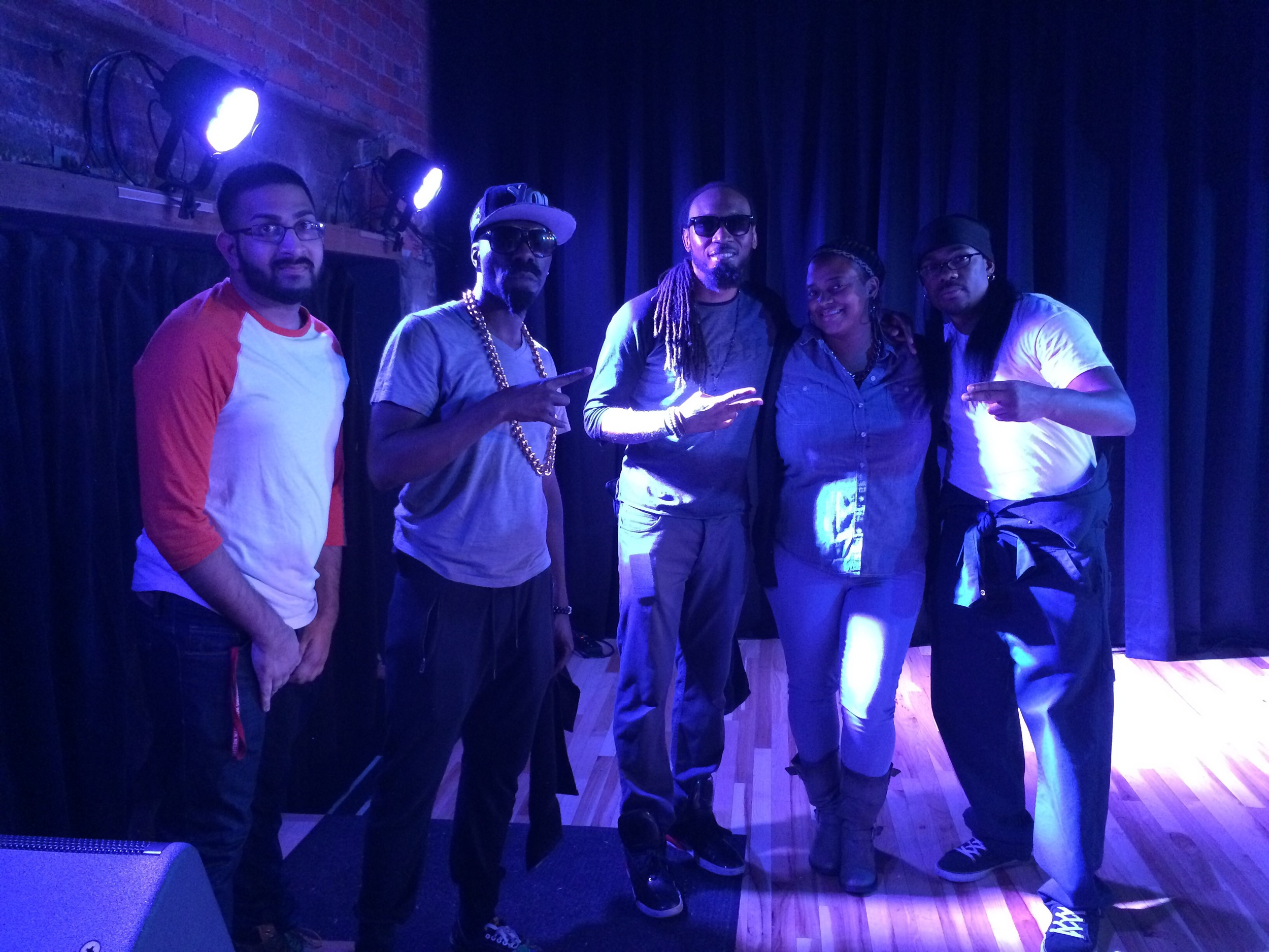 L2R: Bilal, Flynt Flossy, Whatchyamacallit, Me and Yung Humma