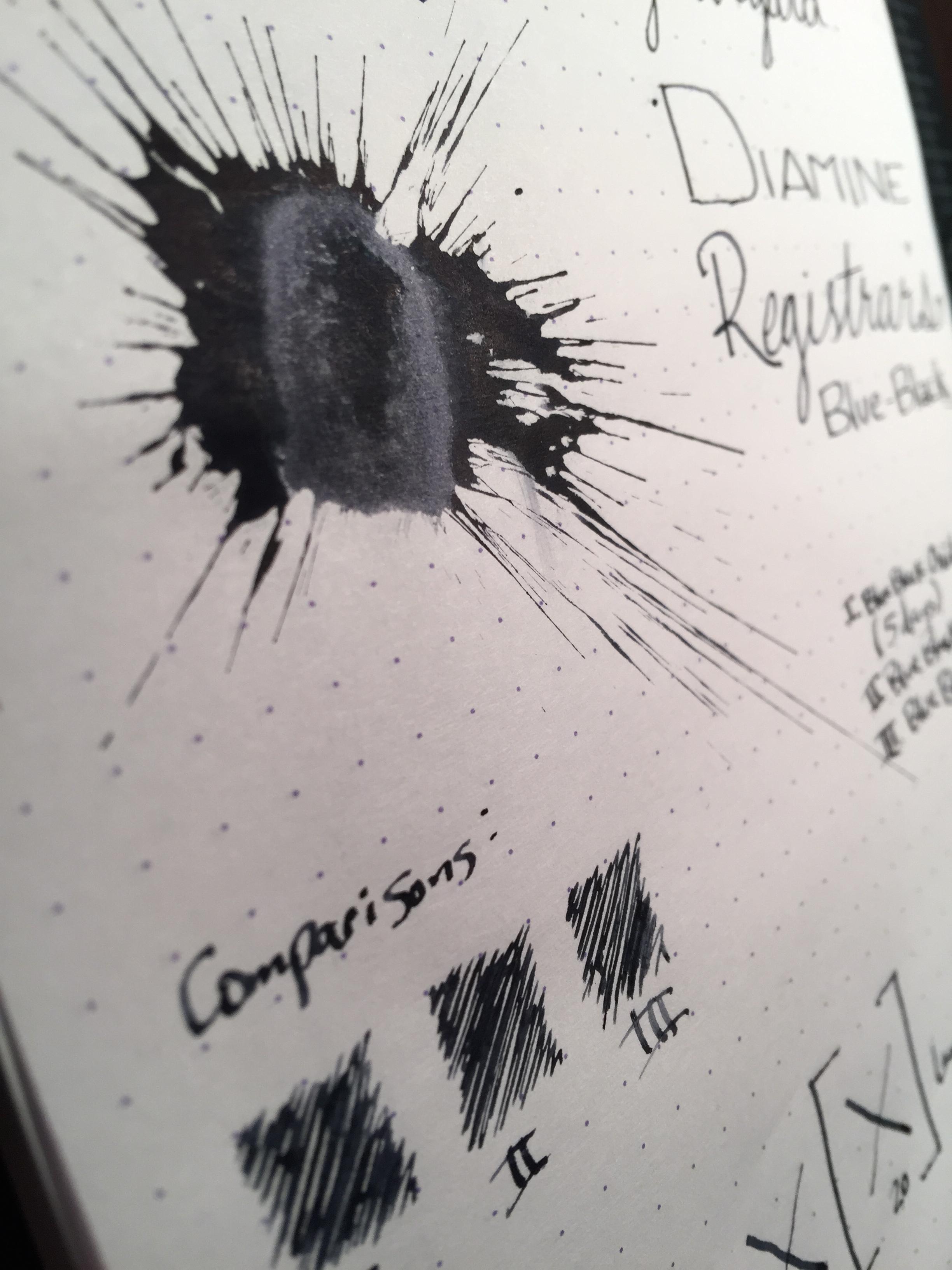 Ink splatter after 5 days