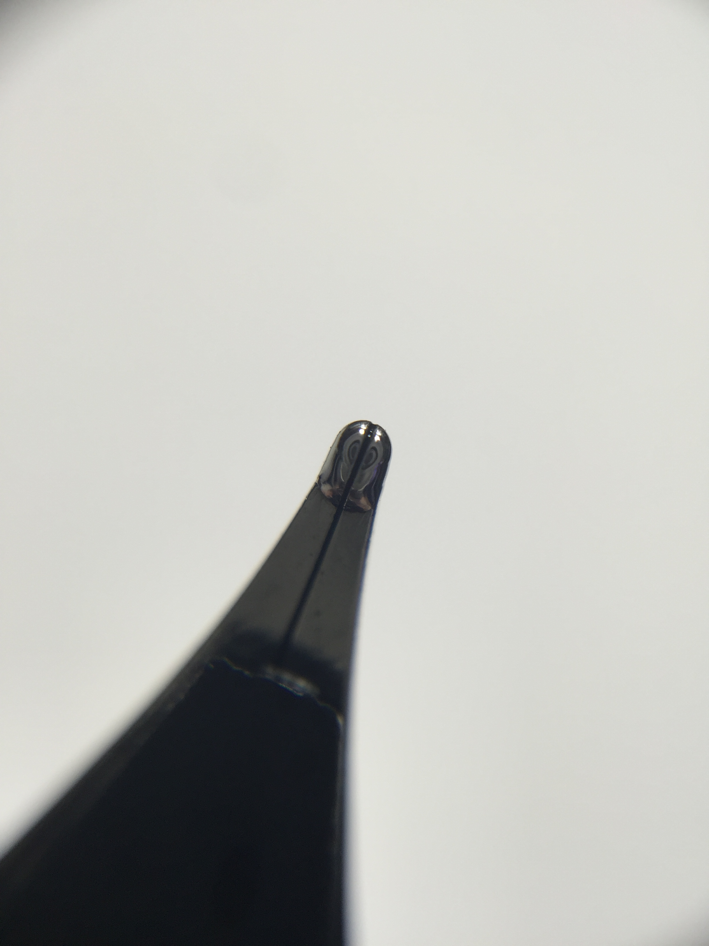 Underside of the nib
