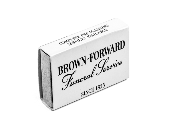 Brown-Forward Funeral Home matchbox