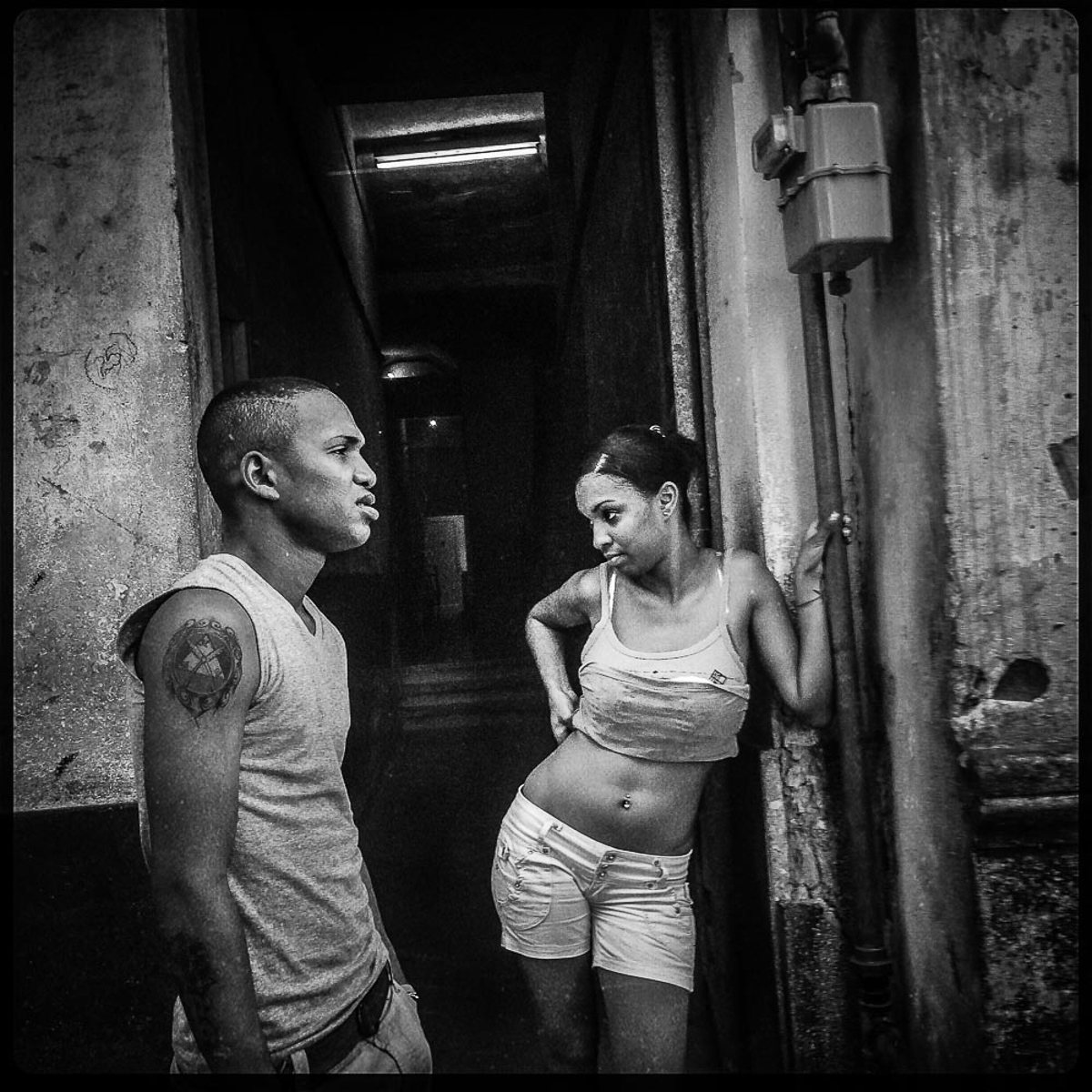 Couple in Doorway, Havana Cuba 2014