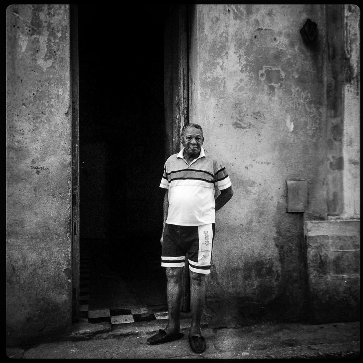 Man in Doorway,  Havana Cuba 2014