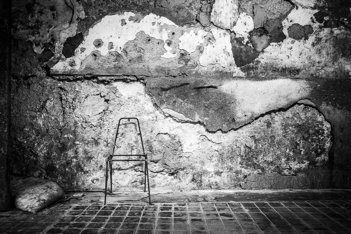 Steel rebar chair, Havana Cuba 2014