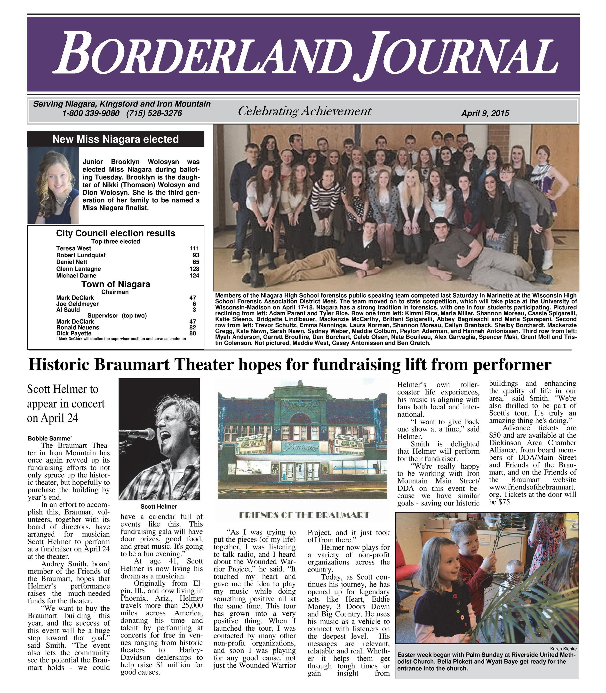 Historic Braumart Theatre hopes for fundrasising lift from Scott Helmer Concert Tour