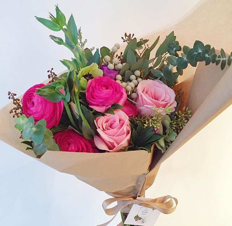 (The Little Glass Slipper, the cutest flower shop!)