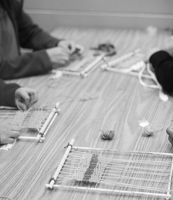 Jonas Art Foundation | Creative Arts Guild Weaving at Southeast High School, Dalton GA