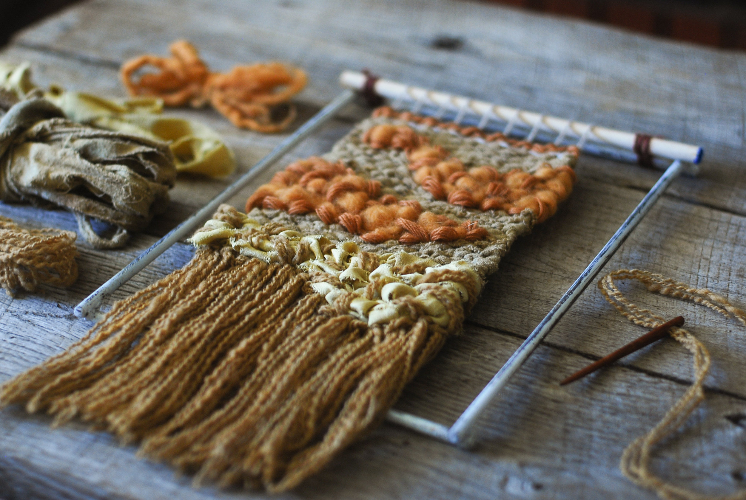 Step 8 [inspiration] created using limited edition Autumn Reminisce  Weaving Kit