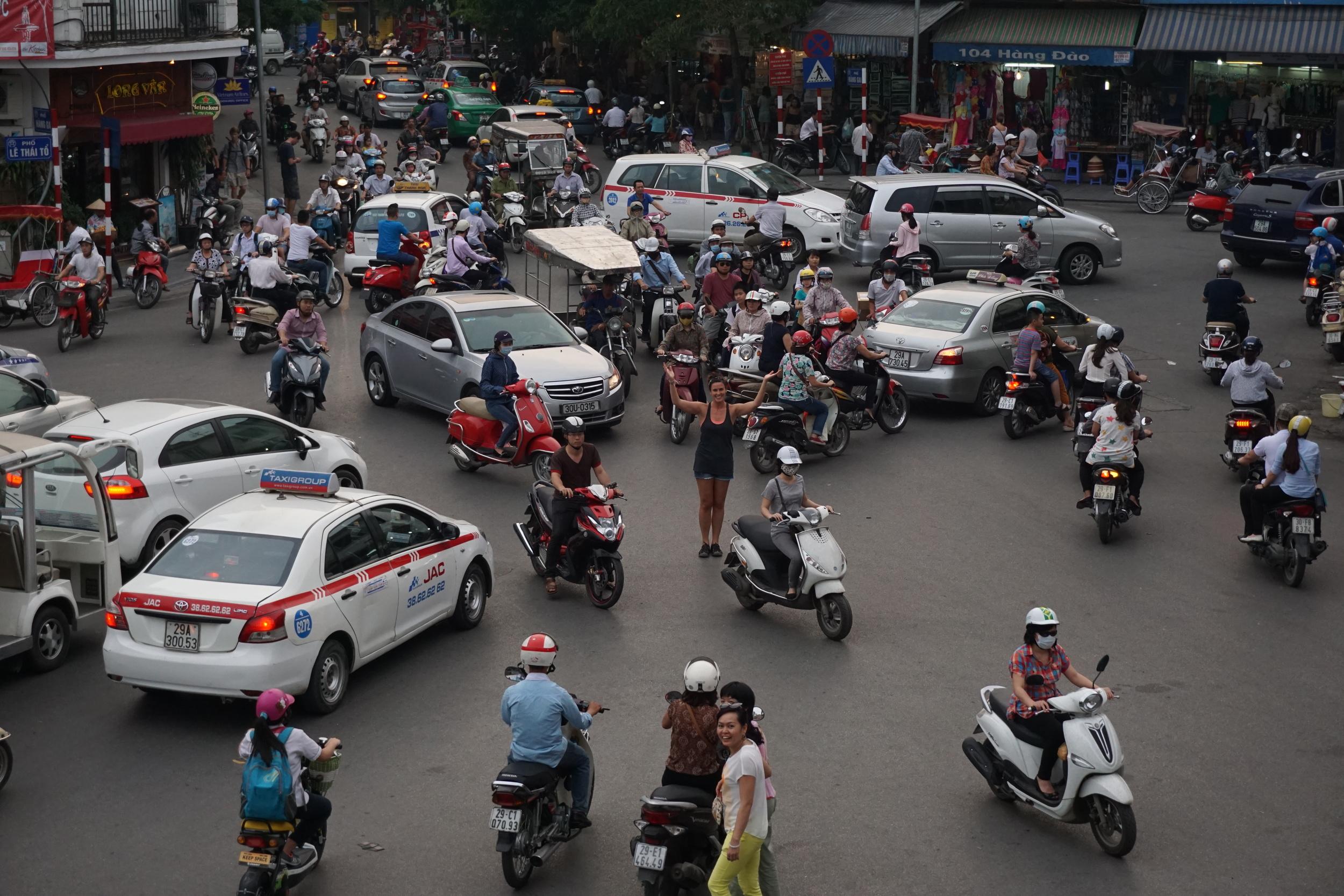 Hanoi traffic circle madness!