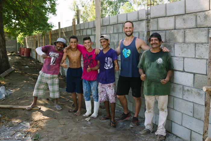 Part of the building crew in El Paredon.