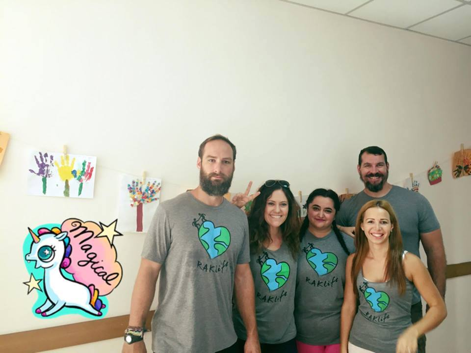 RAKlife team with the leaders of the community center - middle is Alexandra, the Director; the right is Roxana, the psychologist.  Also pictured is Carey from CareBear Abroad, and Glenn, who has helped RAKlife a couple times in the past!  Thank you so much to all for all your hard work.