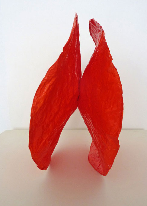 Firefly Red  (View One), 2011, paper, 12 x 7 x 12 in.