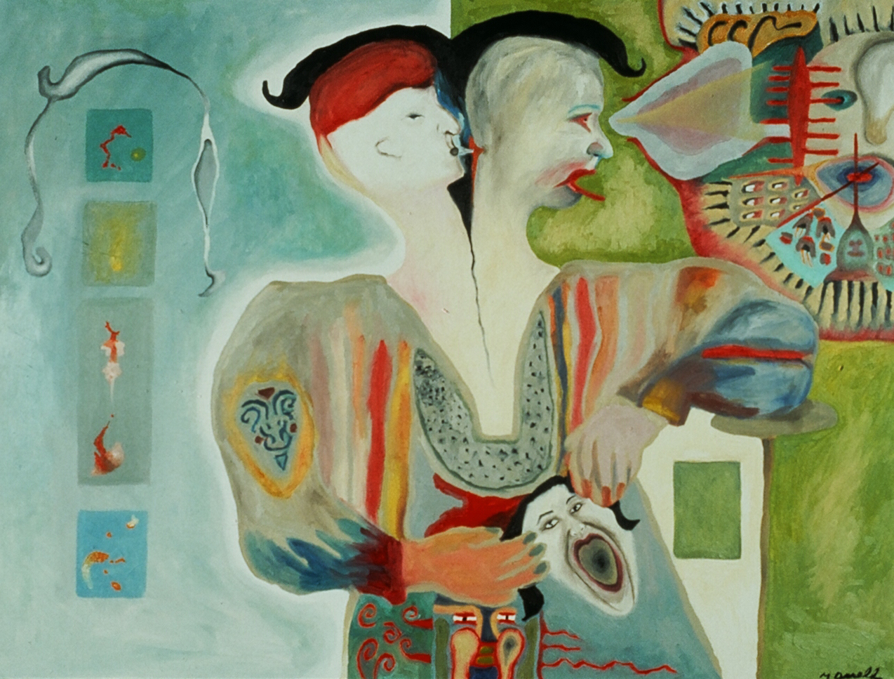 Sisters , 1990, oil on canvas, 36 x 48 in.