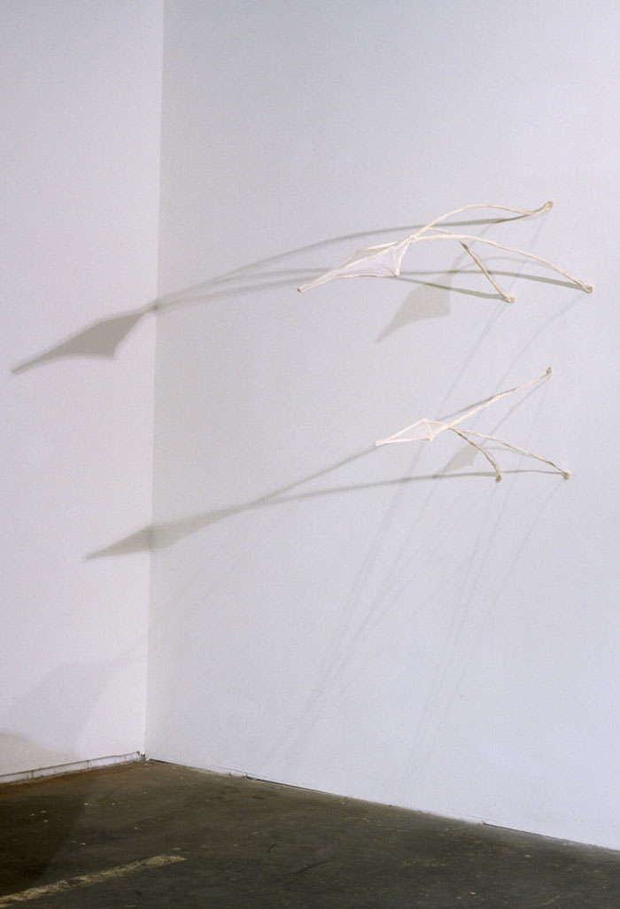 Night Pods , 1998, paper, 40 x 18 x 52 in.
