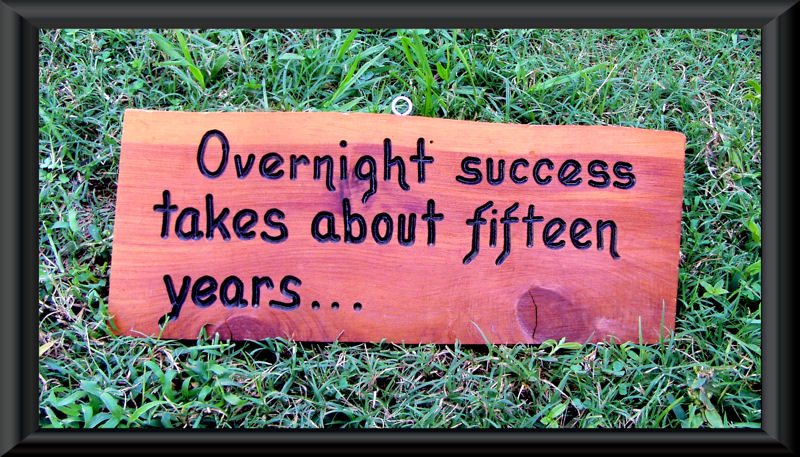 Eddie Cantor claims it's 20 years!  Photo:  http://www.therisetothetop.com/davids-blog/myth-of-overnight-success/