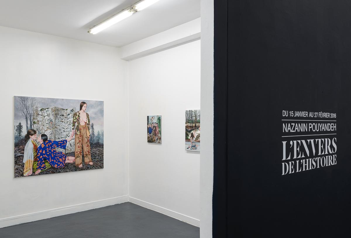 Vues d'exposition «L'Envers de l'histoire » de Nazanin Pouyandeh. Courtesy de l'artiste & galerie Sator © Grégory Copitet