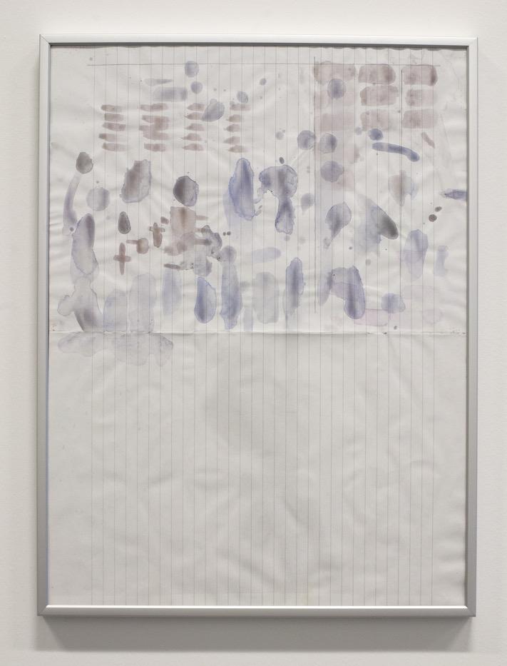 Landscape, 2015, Aquarelle et crayon sur papier, 41 x 31 cm