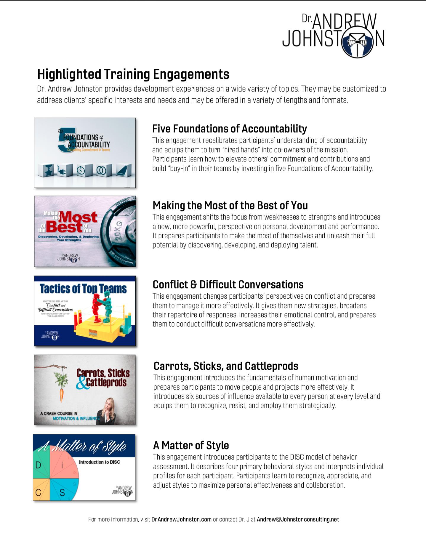 Highlighted Training Programs