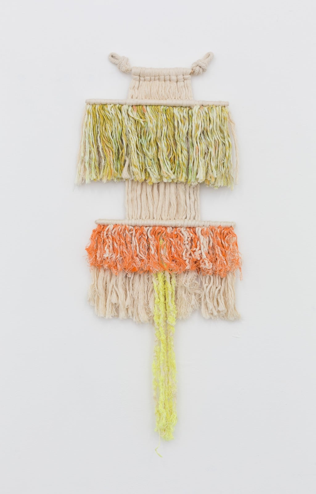 Untitled , 2015    Natural and hand-dyed rope    32 x 12 x 2 in