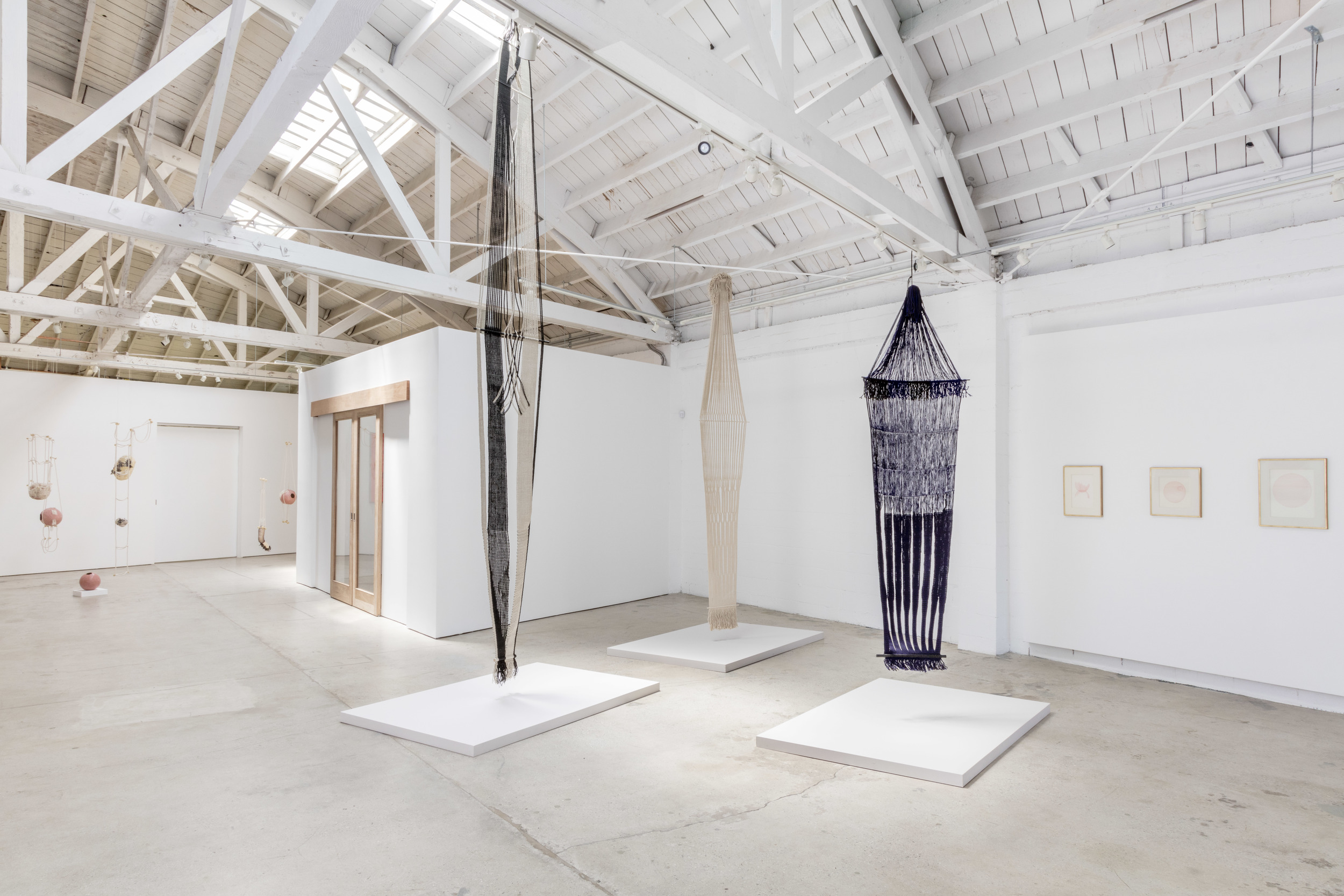 3 Women (July 23 - September 17, 2016)    installation view (Tanya Aguiniga and Lenore Tawney)    Joshua White/JW Pictures, courtesy of the Landing, Los Angeles