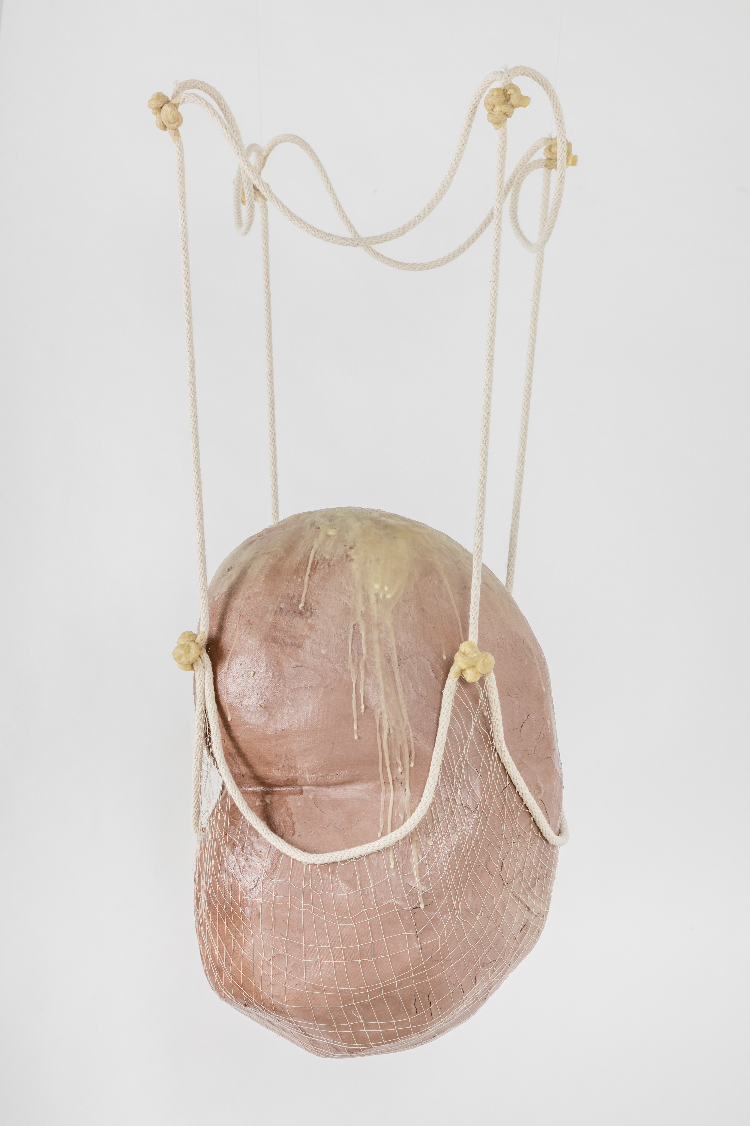 Tanya Aguiniga   Impotence Incarnate , 2016  Cotton rope, cotton thread, foam, gauze, self-drying clay and beeswax  36 x 14 x 15 inches