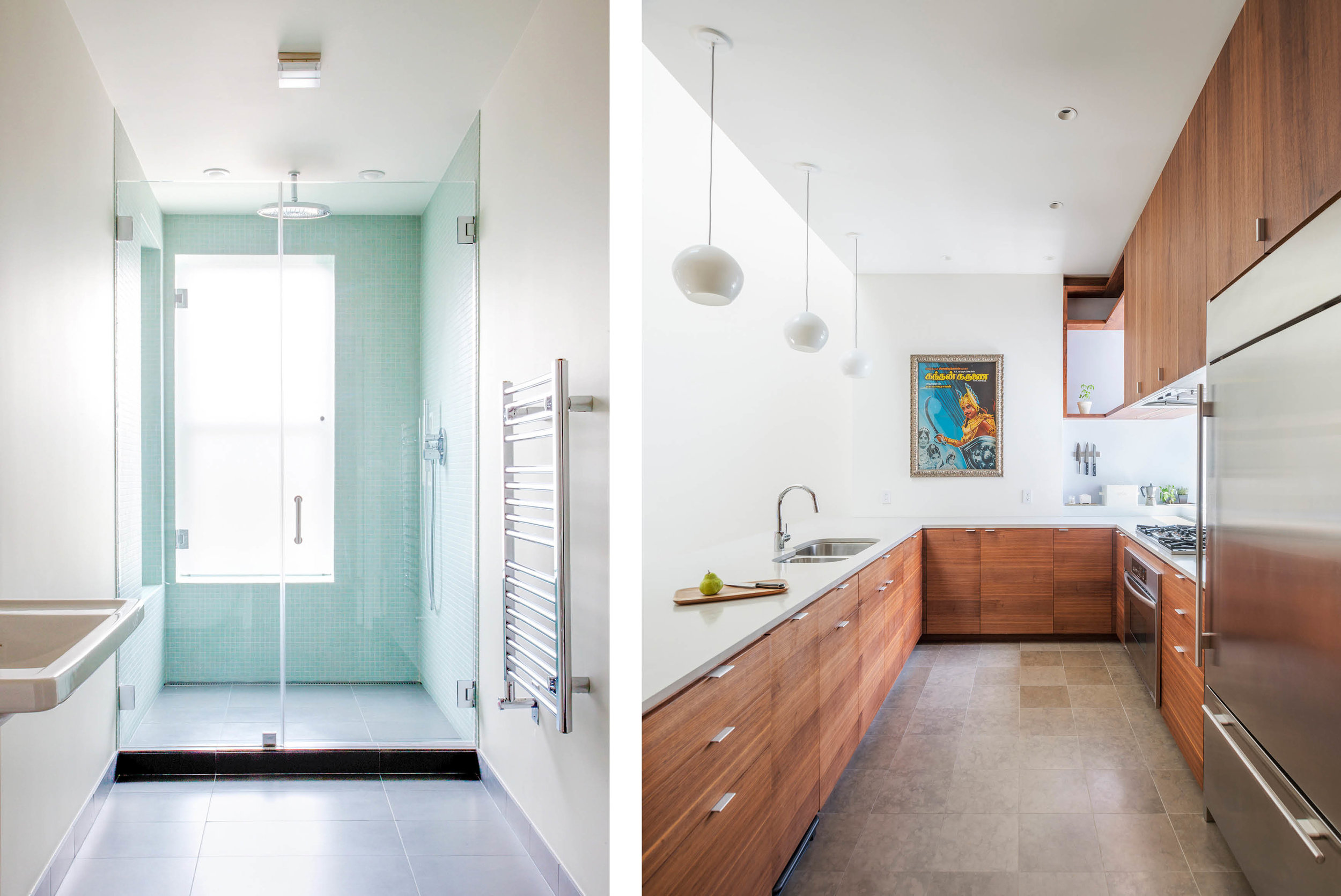 left: Master Bathroom right: Kitchen
