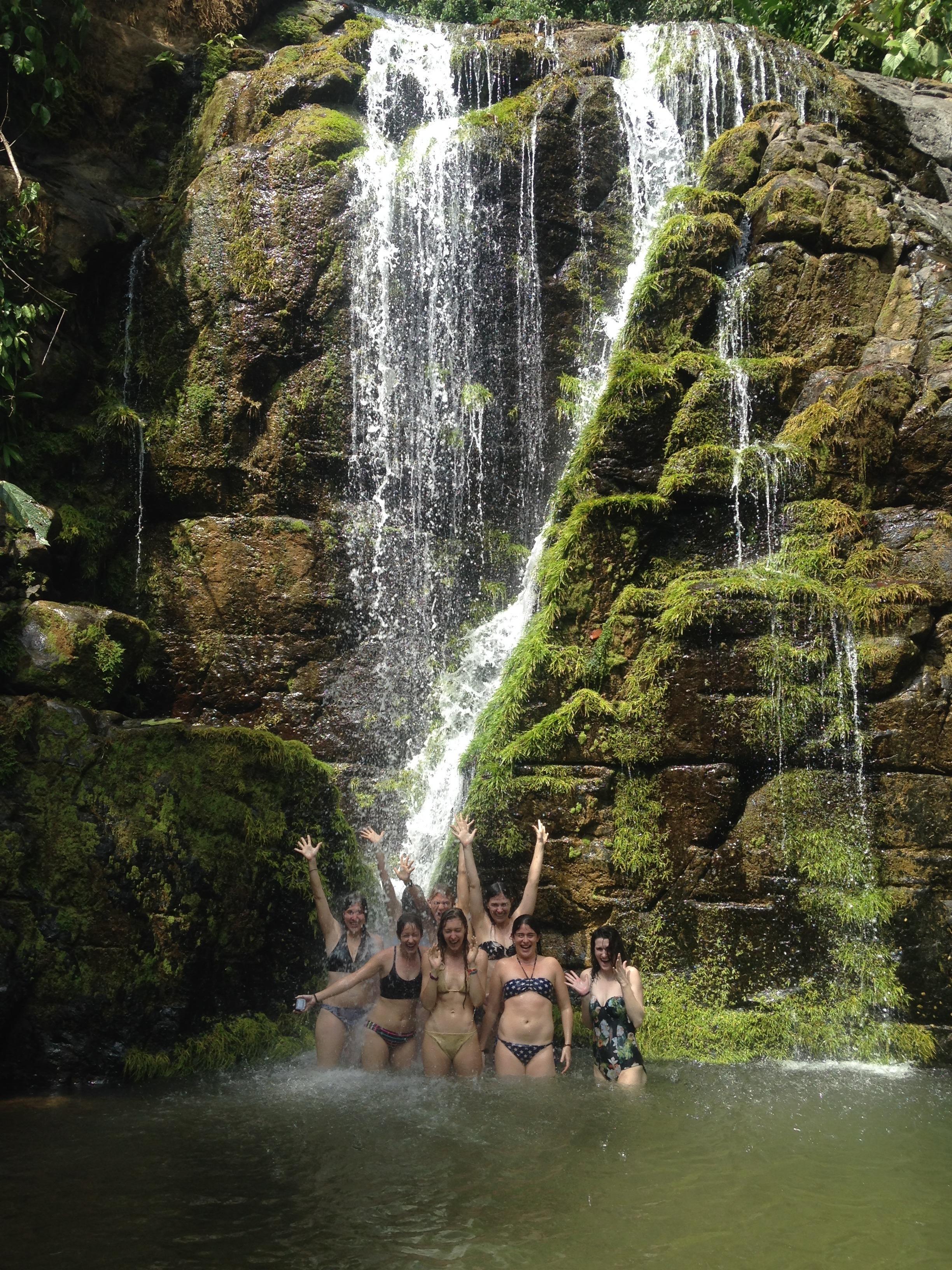 yoga caravan costa rica waterfall
