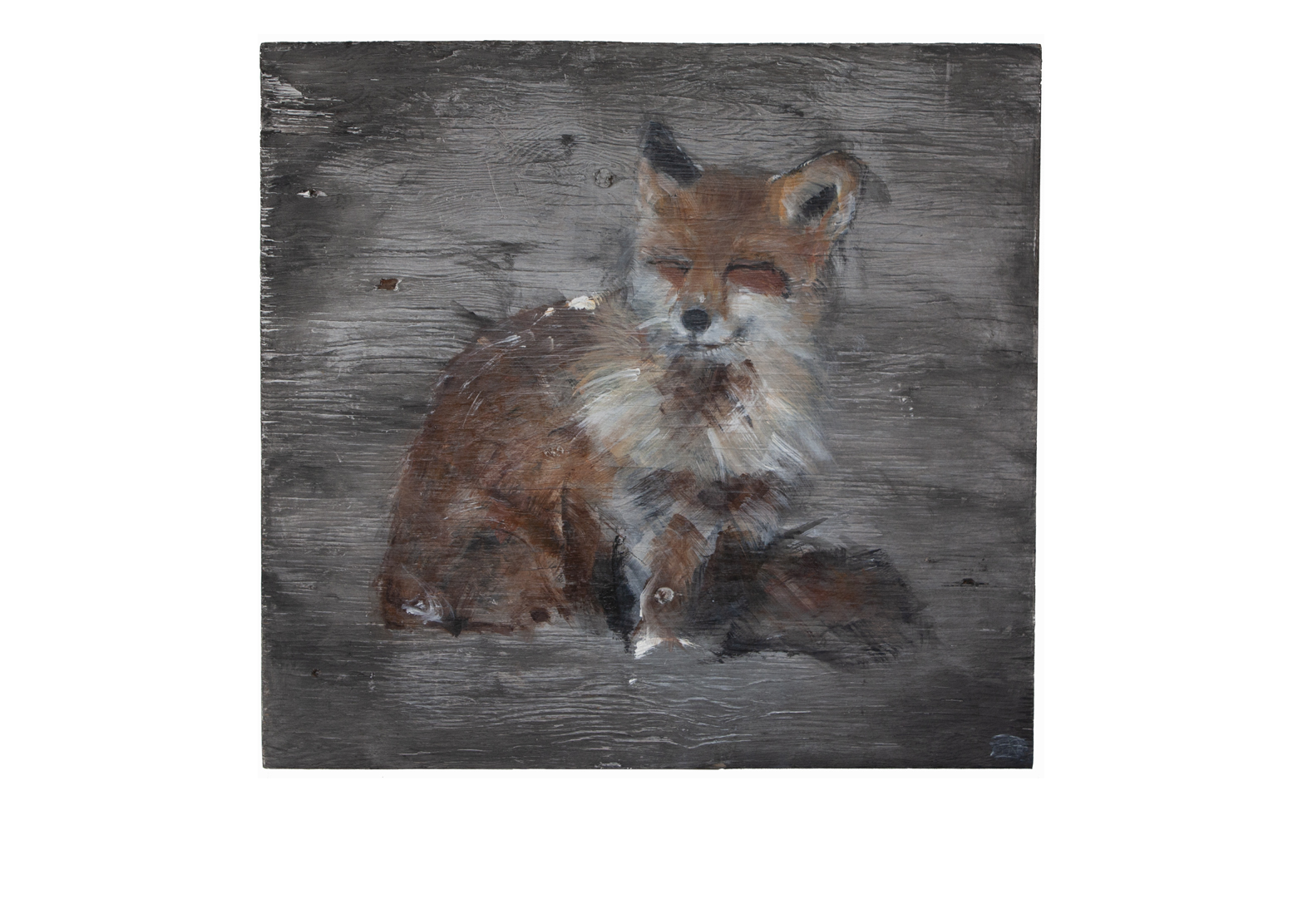 FOX ON WOOD I_Animals In Motion_MyriamRousseauArt.png