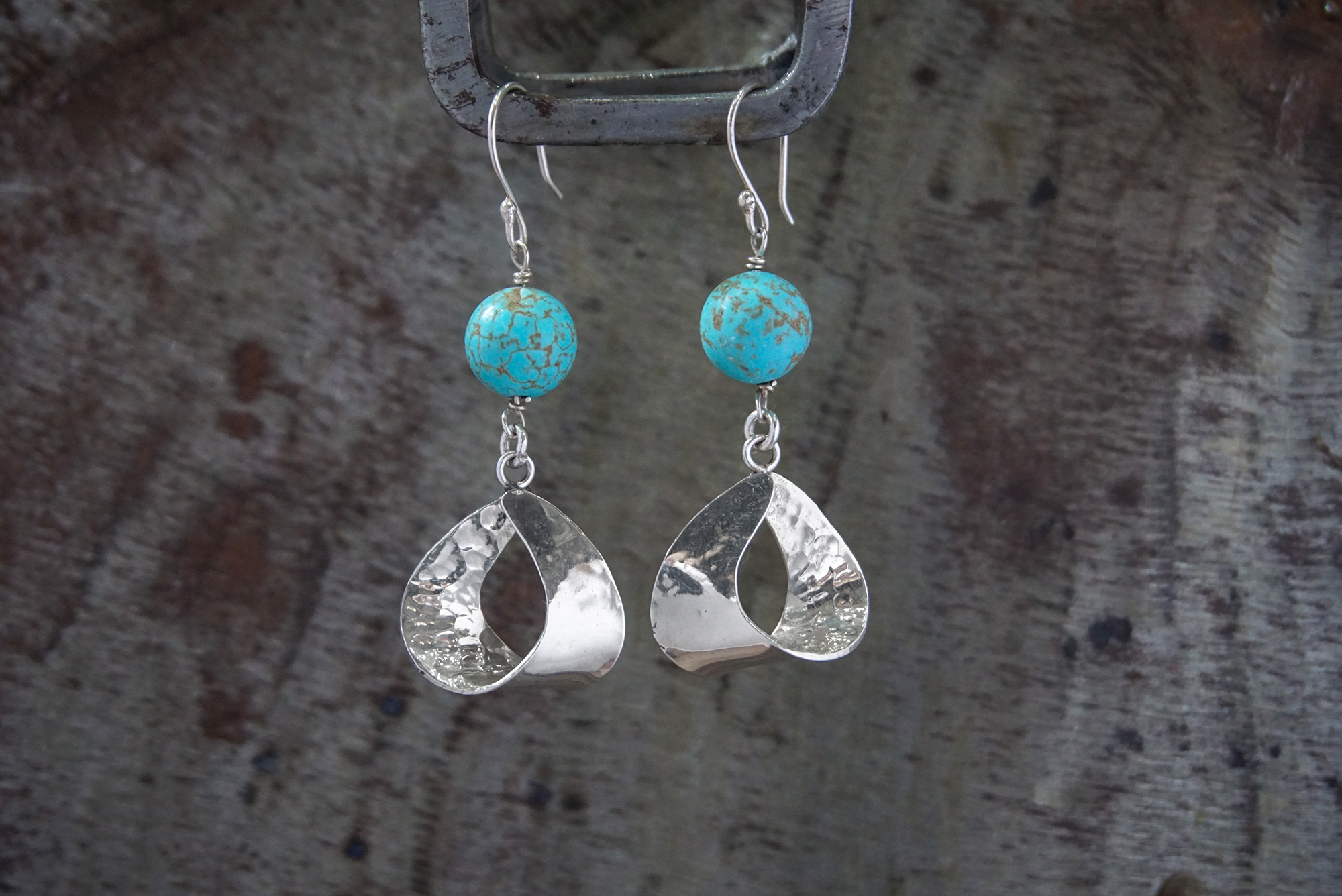 blue howlite earrings