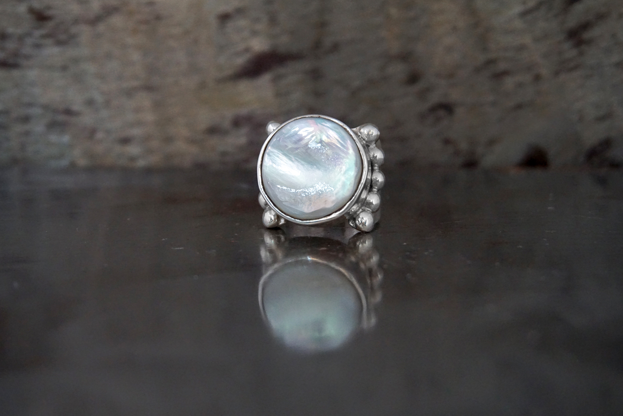 coin pearl ring