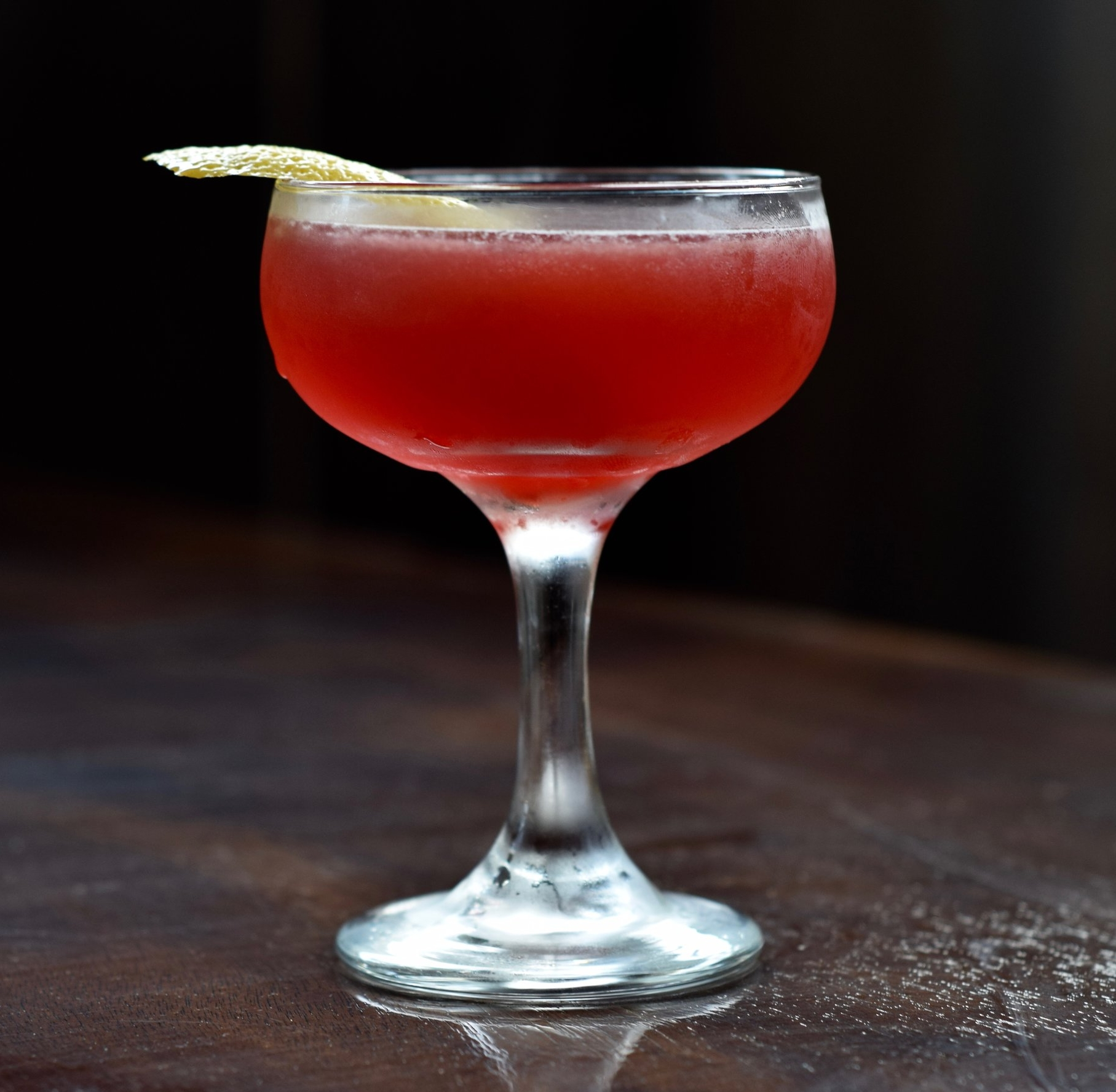 LADY IN RED - 1.5 oz tequila or mezcal1/2 oz aperol3/4 oz nostrum strawberry hibiscus jalapeno shrub3/4 oz fresh lime juiceShake with ice and strain.