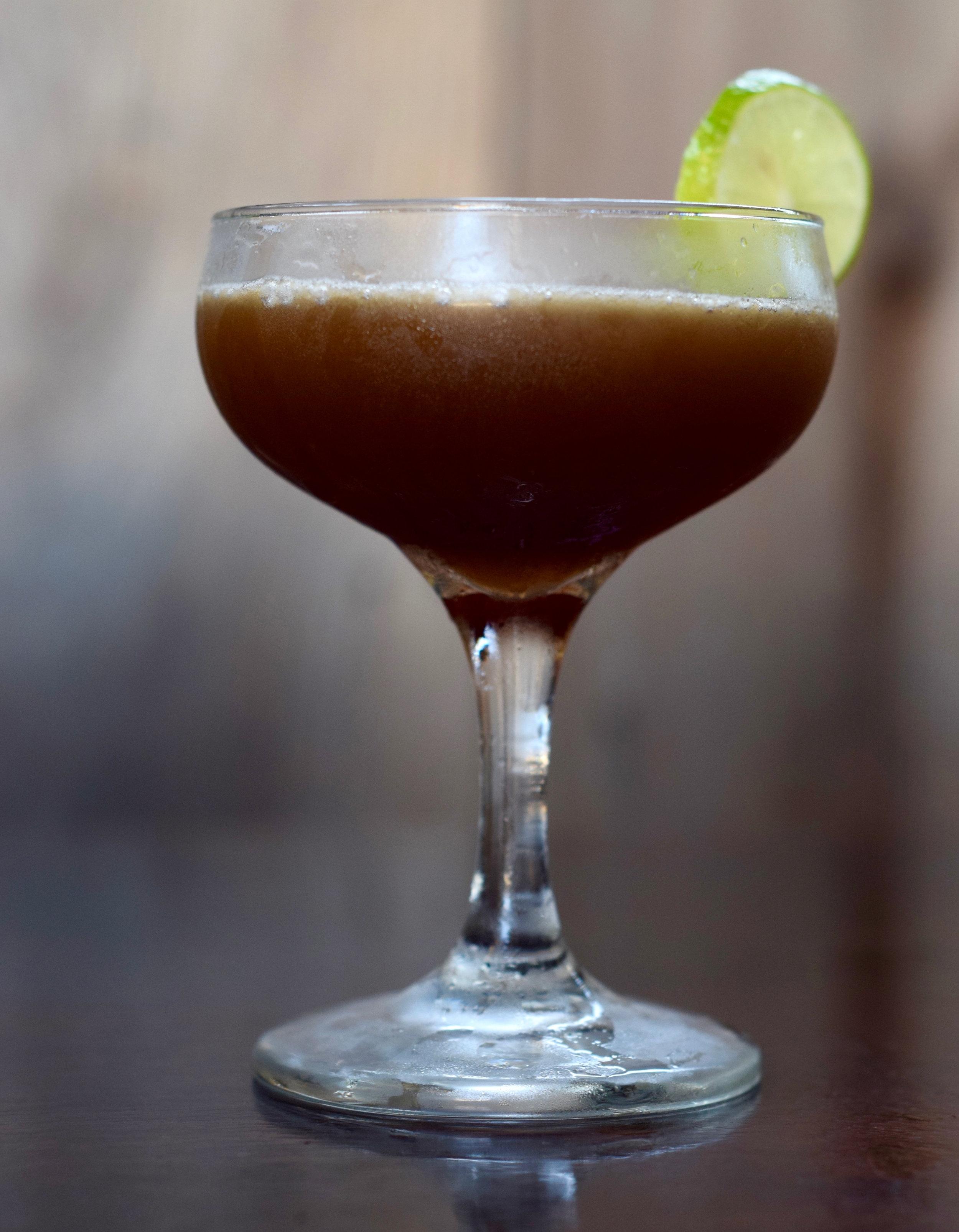BLACK MAGIC WOMAN - 1 oz blackstrap rum1 oz dark rum1/2 oz nostrum grapefruit piloncillo chipotle shrub3/4 oz fresh lime juice1/4 oz ginger syrup2 dashes angostura bittersShake with ice and strain.