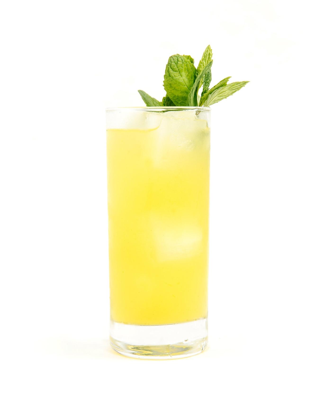 SPRING FLING - 2 oz gin or vodka1/2 oz nostrum pineapple turmeric ginger shrub1/2 oz fresh lime juice3 oz tonic waterBuild over ice.