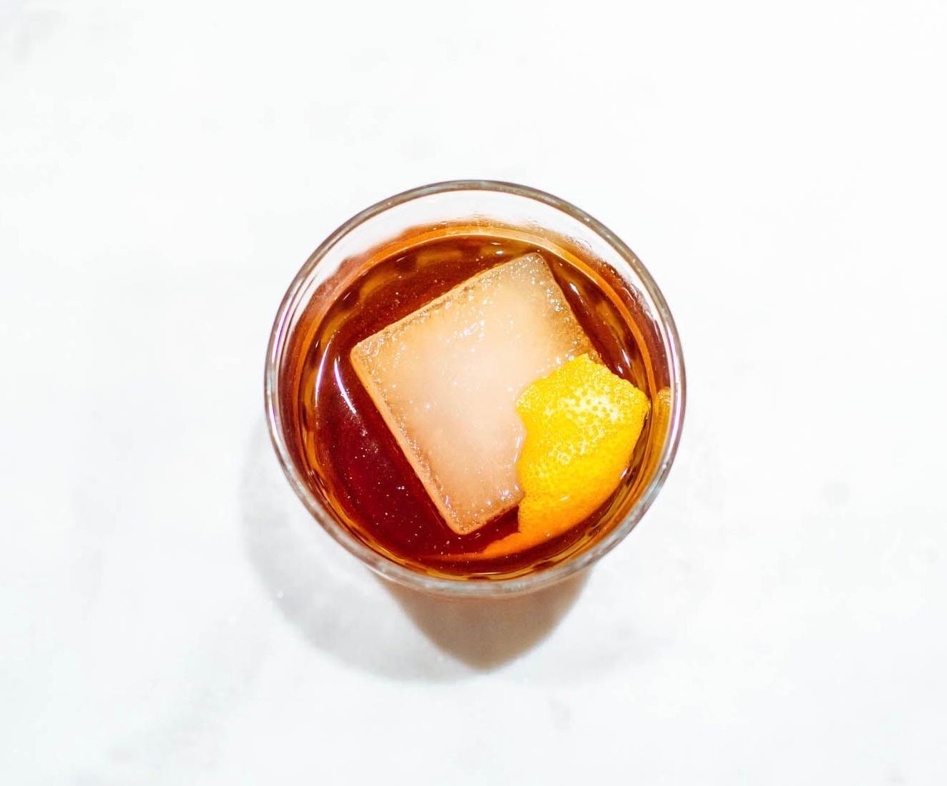 PACHUCA - 1 oz mezcal3/4 oz amargo vallet1/2 oz nostrum strawberry cascara ginger shrub1/2 oz lemon juice1/4 oz cinnamon syrupShake with ice and strain. Garnish with orange peel.