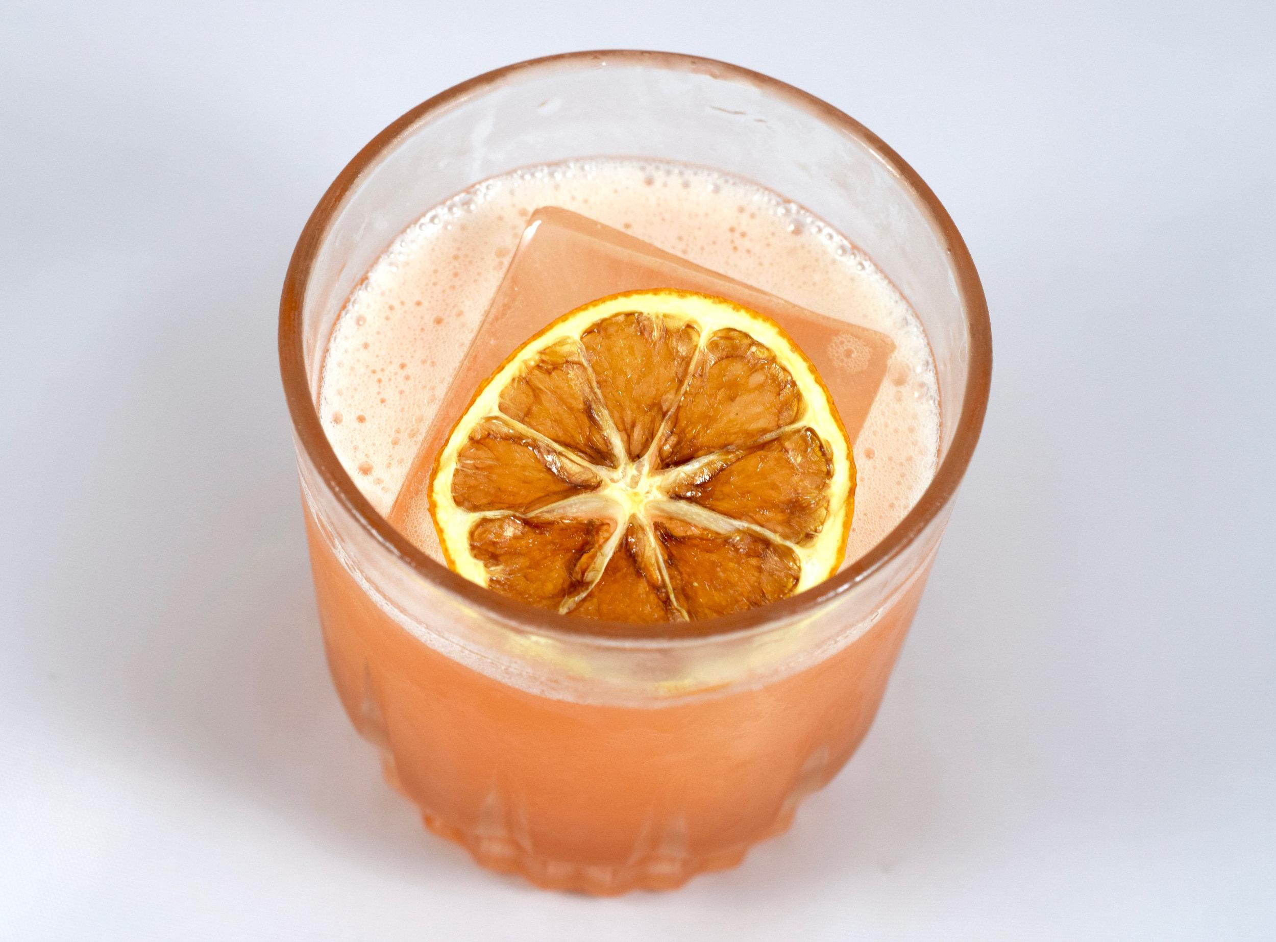 LONGSHIP  - 1.5 oz aquavit1/2 oz aperol1/2 oz nostrum strawberry cascara ginger shrub3/4 oz fresh lemon juice1/2 oz cinnamon syrupShake with ice and strain.