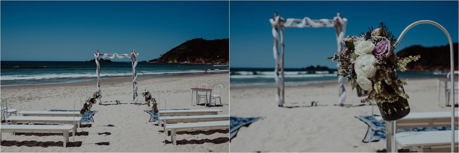 Broken Head beach wedding styling